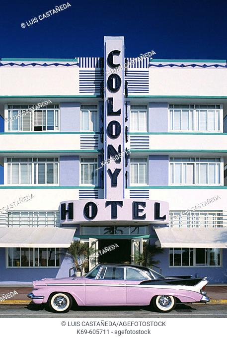 Colony Hotel. Ocean Drive. Miami Beach. (Florida) USA