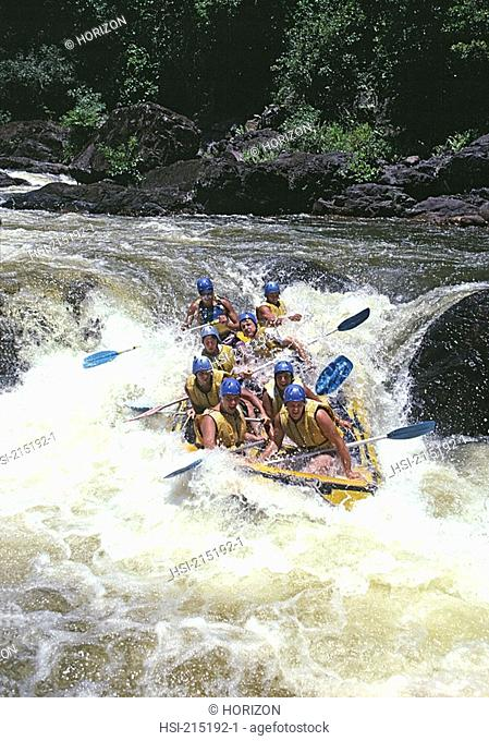 Lifestyle, Sport & recreation, White water rafting, Queensland, Australia
