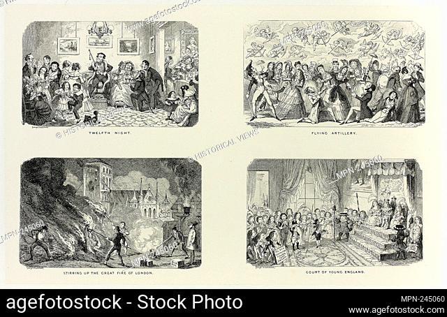 Twelfth Night from George Cruikshank's Steel Etchings to The Comic Almanacks: 1835-1853 (top left) - 1845, printed c. 1880 - George Cruikshank (English