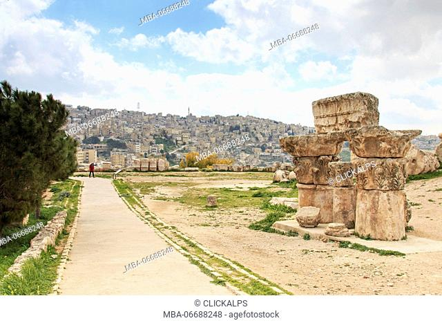 Old Citadel in Amman, Jordan