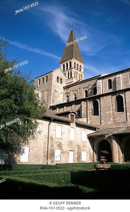 Abbey of St. Philibert, Tournus, Burgundy, France, Europe