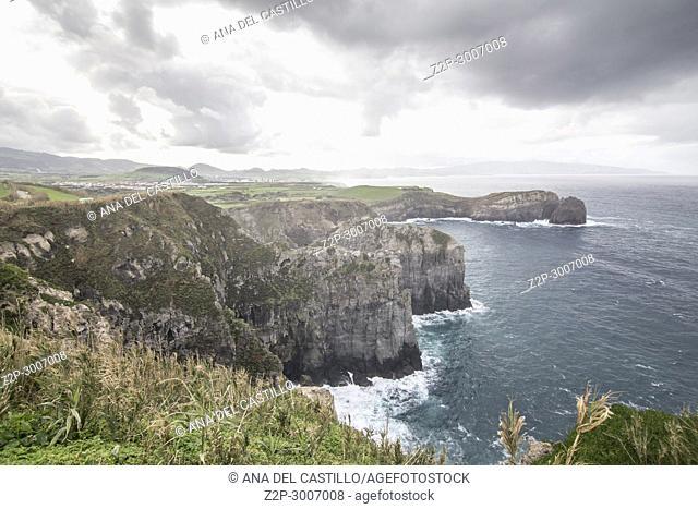 Ponta do Cintrao viewpoint Ribeira Grande Sao Miguel island, Azores, Portugal