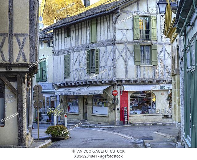 Grand Rue, Issigeac, Dordogne Department, Nouvelle Aquitaine, France
