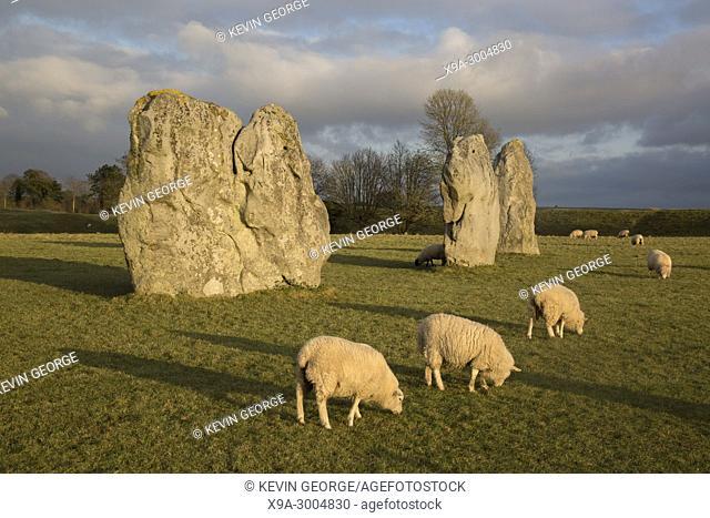 Standing Stone, Avebury, Wiltshire, UK