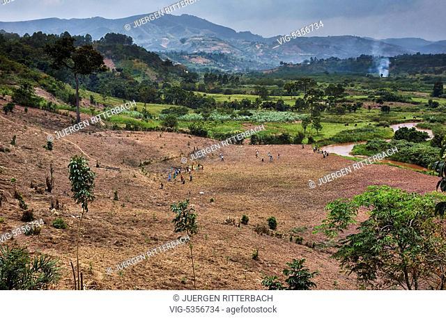 Hills with fields, Uganda, Africa - Uganda, 16/02/2015