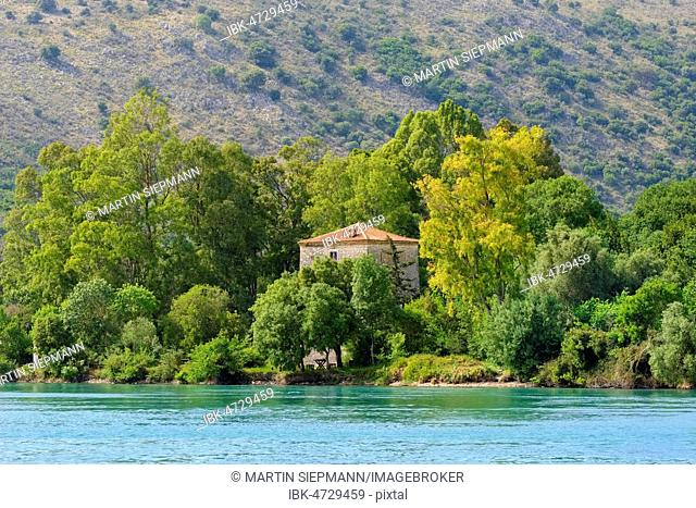 Venzian watchtower in Butrint, Butrint National Park, at Saranda, Qark Vlora, Albania