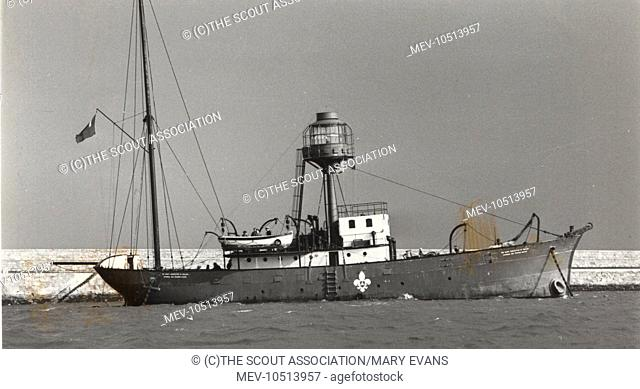 The Irish Lightvessel Albatross which was used as a Sea Scout training ship in Dun Laoghaire harbour