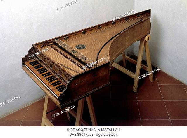 Harpsichord, 1577. 16th century.  Florence, Museo Bardini (Art And Arts And Crafts Museum)