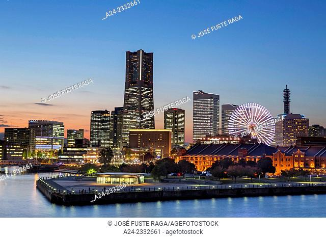 Japan, Yokohama City,Yokohama Skyline , Landmark Bldg