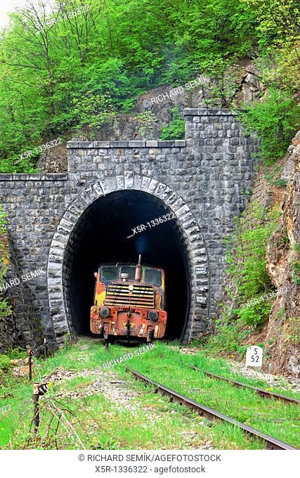 diesel locomotive, Resavica, Serbia