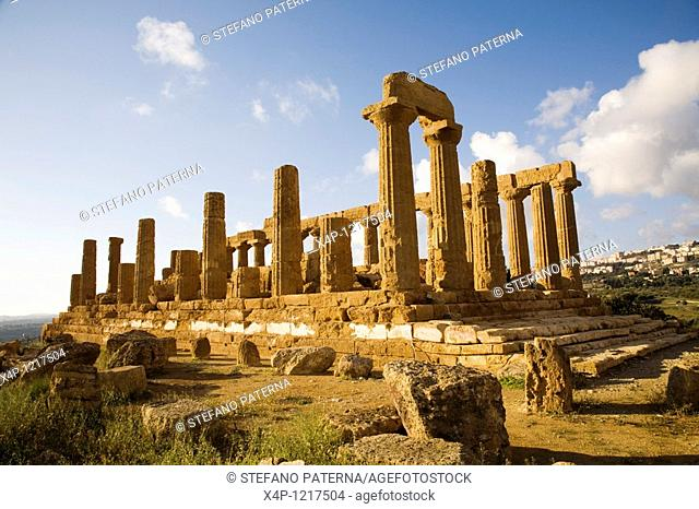 Juno Temple, Valley of Temples, Near Agrigent, Sicily, Italy