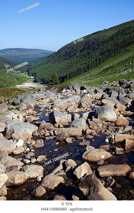 Republic of Ireland, County Wicklow, Wicklow Mountains National Park, View from the Wicklow Gap