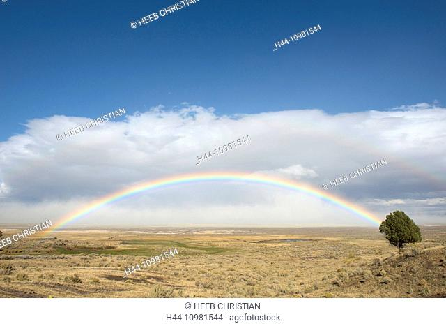High Desert and rainbow in Oregon