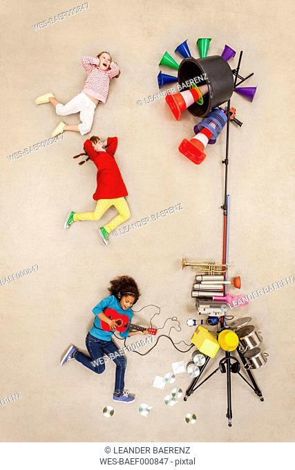 Children playing rock band