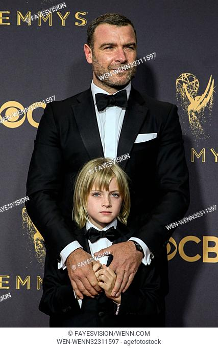 69th Emmy Awards held at the Microsoft Theatre L.A. LIVE - Arrivals Featuring: Liev Schreiber Where: Los Angeles, California