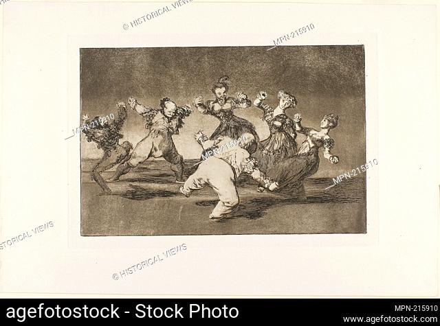 Merry Folly, from Disparates, published as plate 12 in Los Proverbios - 1816-19, published 1864 - Francisco José de Goya y Lucientes Spanish