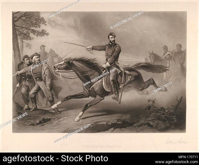 Sheridan's Ride. Engraver: Engraved by William Sartain (American, 1843-1924); Artist: After Christian Schussele (American (born France)