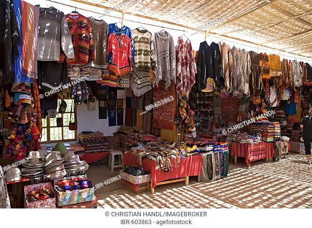 Souvenir shop, San Pedro de Atacama, Región de Antofagasta, Chile, South America