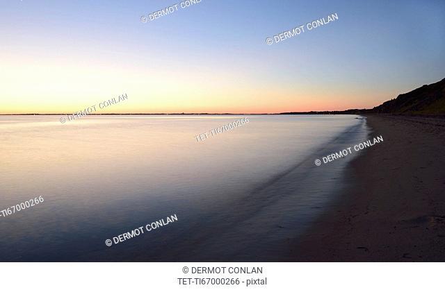Great Hollow Beach at dusk