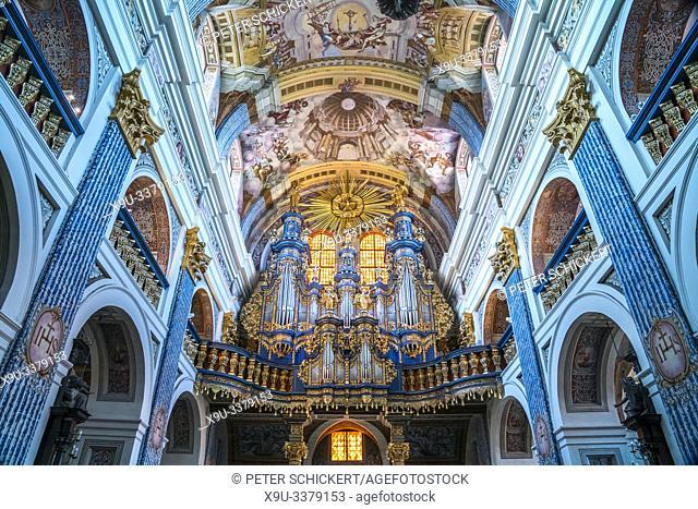 Kirchenorgel der Wallfahrtskirche Heilige Linde / Swieta Lipka, Ermland-Masuren, Polen, Europa | organ of the pilgrimage church Our Dear Lady of Swieta Lipka