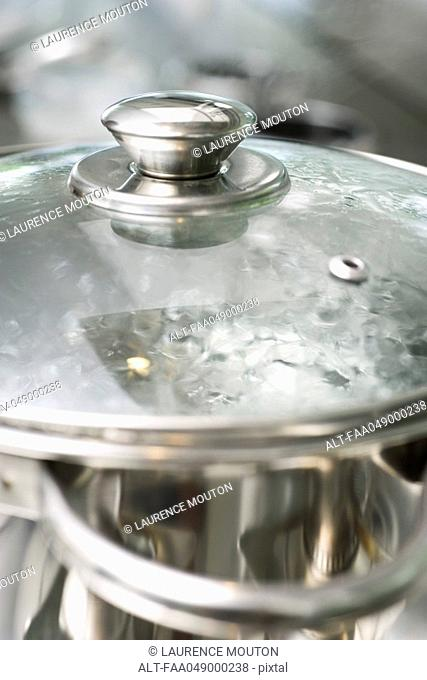 Water boiling in pot