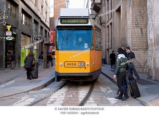 Tram, Milan, Lombardy, Italy