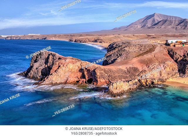 Playa Papagayo, Playa Blanca, Lanzarote, Canary Islands, Spain