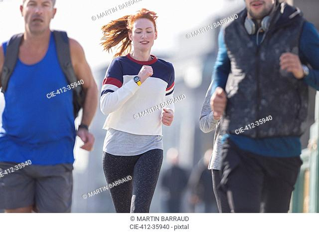 Runners running outdoors
