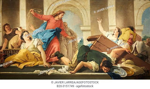 """""""Expulsion of the Traders from the Temple"""", 1750-1753, Giandomenico Tiepolo, National Museum of Catalan Art, Museu Nacional d Art de Catalunya, MNAC"