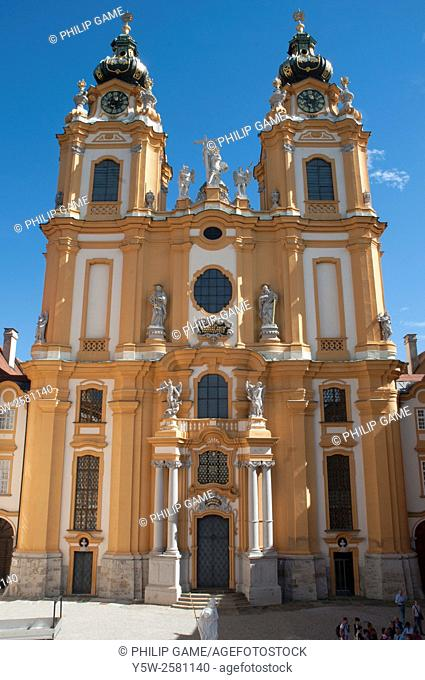 Chapel of the Benedictine Abbey above the Danube at Melk, Austria