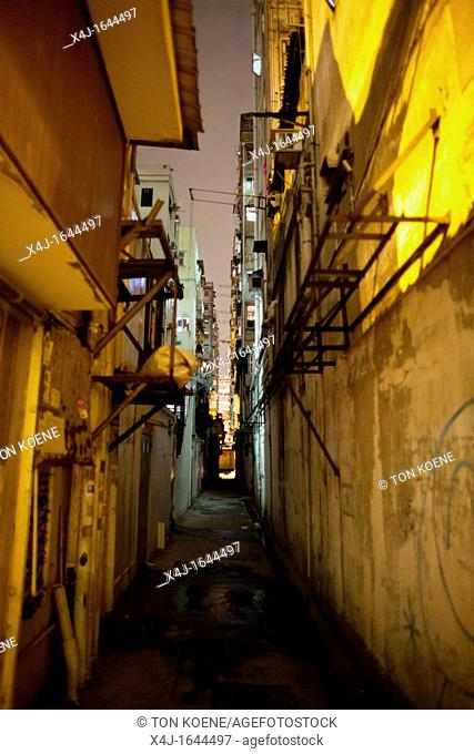 alley in Hongkong, China