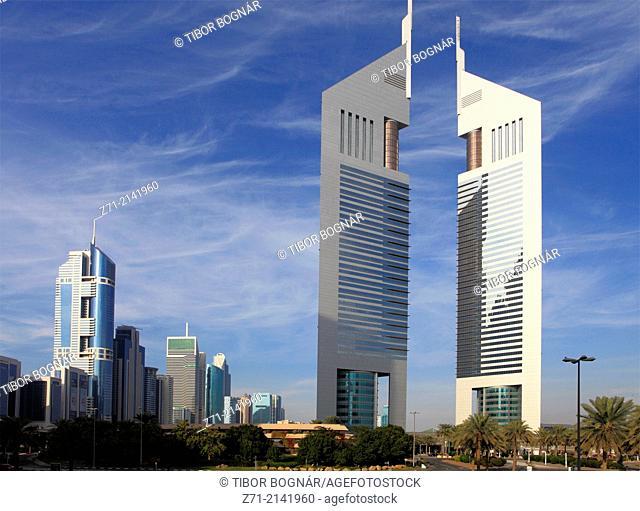 United Arab Emirates, Dubai, Emirates Towers,