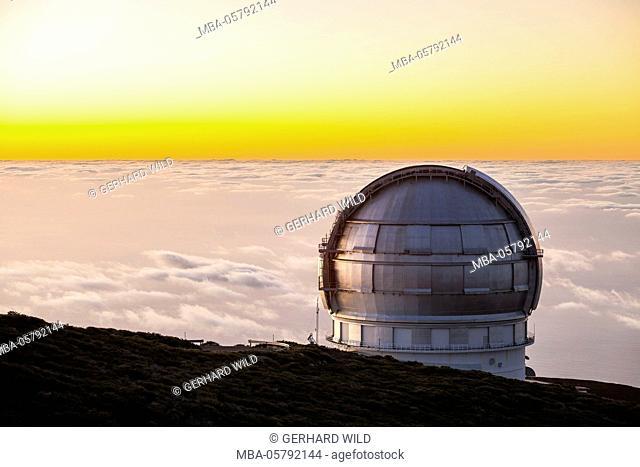 Grain Telescopio Canarias (GTC), observatory on Roque de Los Muchachos, La Palma, Canary Islands, Spain, Europe