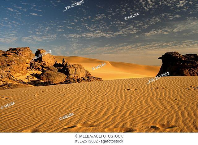 Tahaggart. Tassili Ahaggar. Sahara desert. Algeria