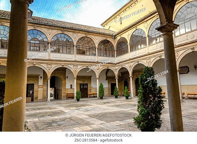 Palacio de las Cadenas, inner court, town Ubeda, Zona Monumental, UNESCO world heritage site, Andalusia, Spain
