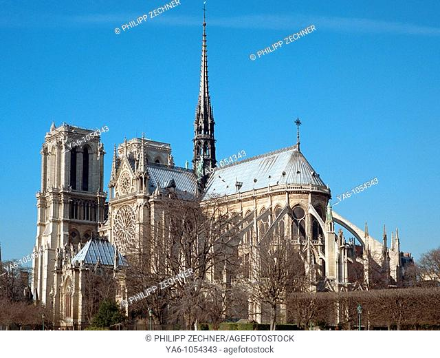 Notre Dame, seen from the back rive gauche