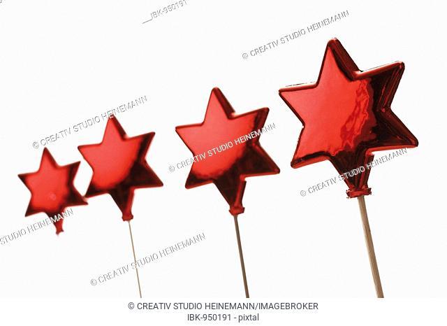 Red stars on sticks