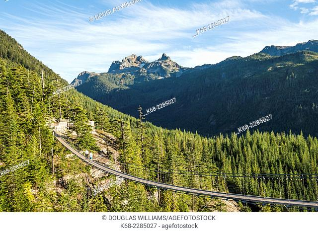 Coast Mountains above Squamish, BC, Canada, accessible by the new Sea to Sky gondola