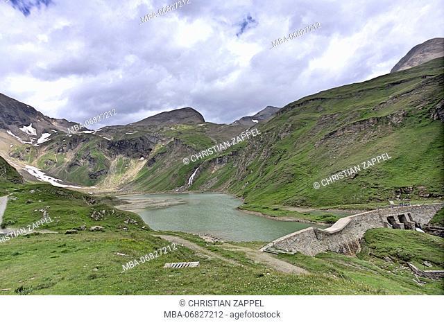 Stausee Margaritze at the Grossglockner Hochalpenstrasse, Hohe Tauern, Carinthia, East Tyrol, Austria