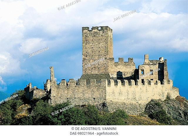 Cly castle, Saint-Denis, Valle d'Aosta. Italy, 11th century