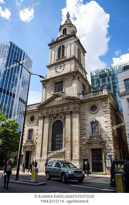 St Botolph Church, Bishopsgate, City of London, UK