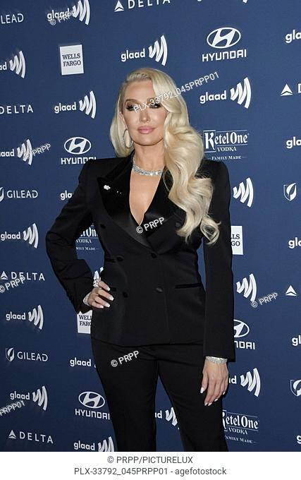Erika Jayne at the 30th Annual GLAAD Media Awards held at the Beverly Hilton Hotel in Beverly Hills, CA on Thursday, March 28, 2019