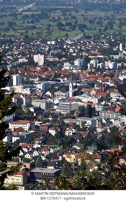 Dornbirn, view from Dreilaenderblick lookout point, Vorarlberg, Austria, Europe