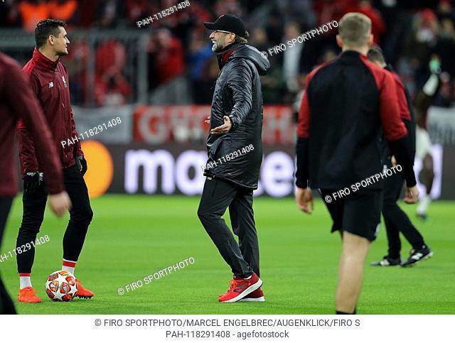 firo: 13.03.2019 Fuvuball, UEFA Champions League, CL, season 2018/2019, round of 16, reverse FC Bayern Munich - Liverpool 1: 3, coach JVºrgen Klopp