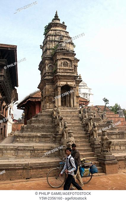 Siddhi Laxmi Temple in Durbar Square, Bhaktapur, Kathmandu Valley. Taken before the catastrophic April 2015 earthquake