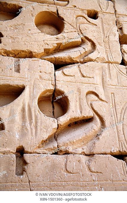 Mortuary Temple of Ramesses III, Medinet Habu, Luxor West bank, Egypt