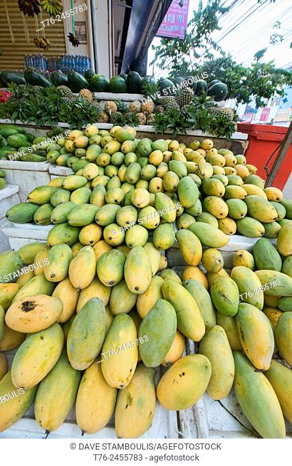 Mangoes for sale in the Psar Cha Old Market in Siem Reap, Cambodia