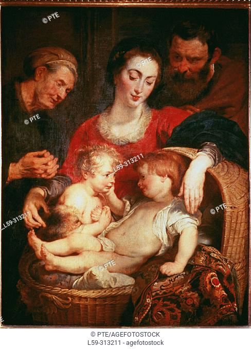 Holy Family with St. Elizabeth ('Madonna of the Basket'), painting by Rubens