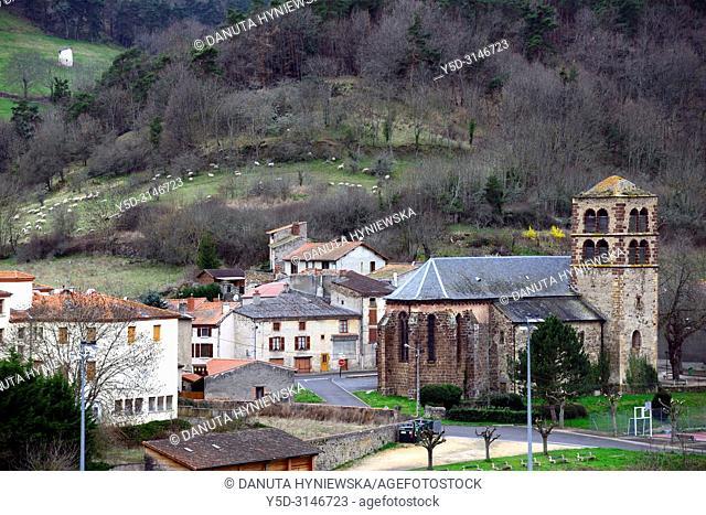 Panorama of Ardes sur Couze with view for Église Saint-Dizaint d'Ardes - Patrimoine Religieux - Religious Heritage and Monument Historique