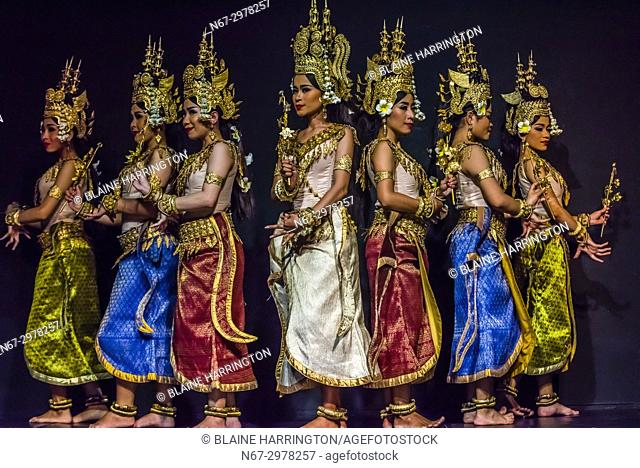 Robam Apsara (Apsara dance). Apsara are celestial female spririts, seen as the mothers of Khmer dances and symbols of Khmer culture)
